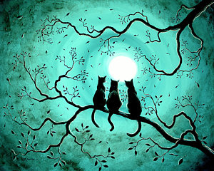 Three Black Cats Under A Full Moon by Laura Iverson.png