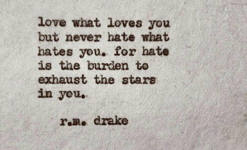 LOVE WHAT LOVES YOU